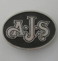 AJS Motorcycles Pewter Belt Buckle (Large)
