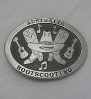 Bootscooting Australia Pewter Belt Buckle (Medium)