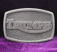 Triumph Old Logo TV Screen Pewter Belt Buckle (Medium)