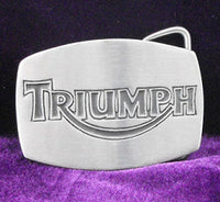 Triumph TV Screen Pewter Belt Buckle (Medium)