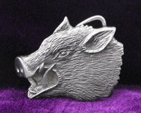 Hog's Head Pewter Belt Buckle (Medium)