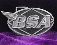 BSA Oval Logo Pewter Belt Buckle