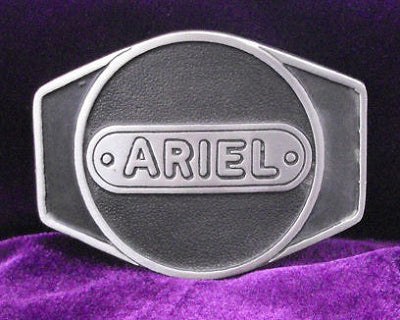 Ariel Motorcycle Logo Pewter Belt Buckle
