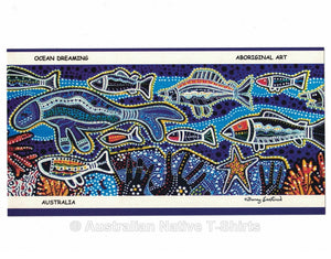 Aboriginal Ocean Dreaming Postcard (6 Pack)