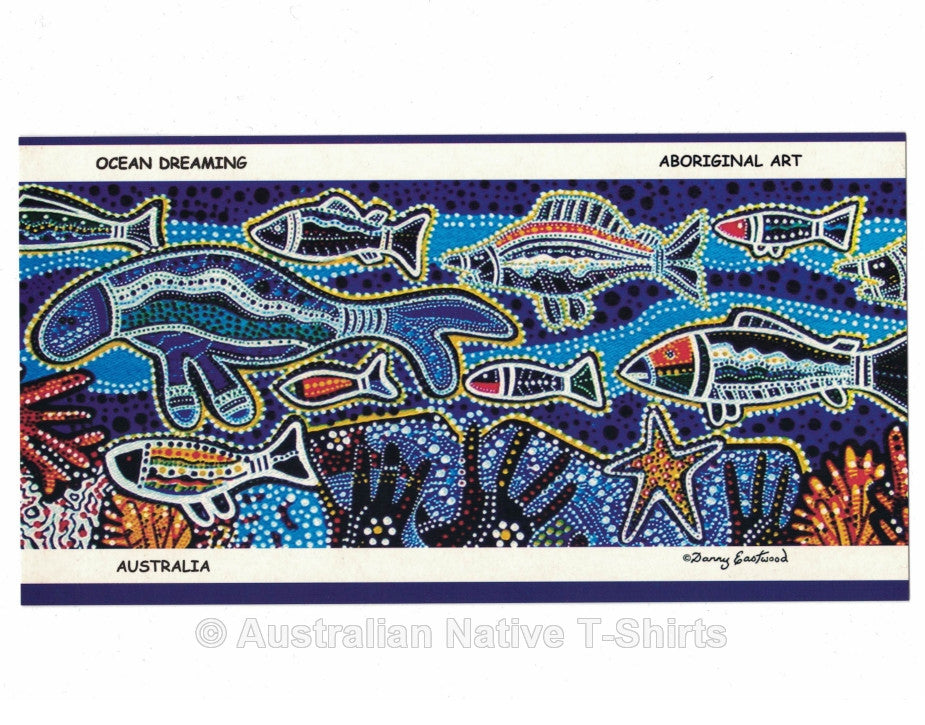 Aboriginal Ocean Dreaming Postcard (12 Pack)