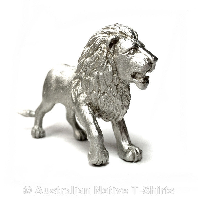 African Lion Pewter Figurine (8cm)
