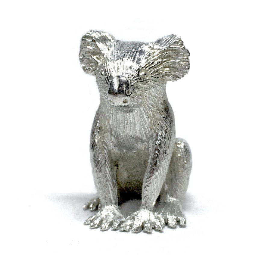 Large Sitting Koala Pewter Figurine (4cm)