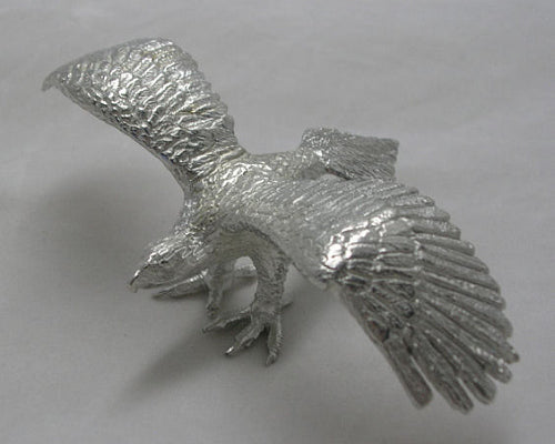 Wedge Tailed Eagle Pewter Figurine (10cm Wingspan)