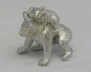 Koala & Baby Pewter Figurine (Small 3.25cm)