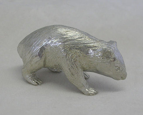 Wombat Pewter Figurine (Small 4cm)