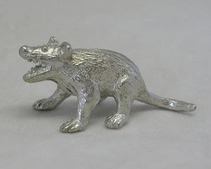 Tasmanian Devil Pewter Figurine (Small 4cm)