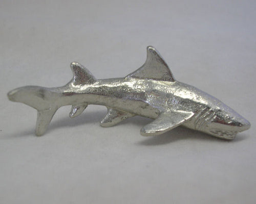 Great White Shark Pewter Figurine (6cm)