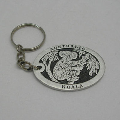 Koala (Double Sided) Pewter Keyring