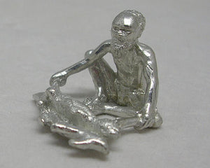 Aboriginal Cooking Goanna Pewter Figurine (Small 4cm)
