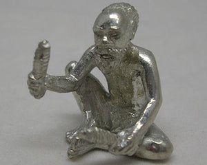 Aboriginal With Clapsticks Pewter Figurine (Small)
