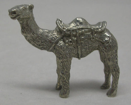 Camel With Saddle Pewter Figurine (Small)