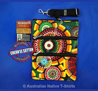 Rankuraan 3-Zip Aboriginal Art Shoulder Bag