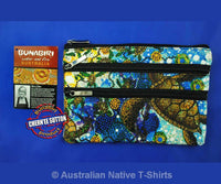 Yaunati Turtle 3-Zip Aboriginal Art Cosmetic Bag