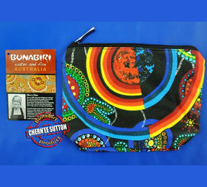 Utinat 1-Zip Aboriginal Art Cosmetic Bag