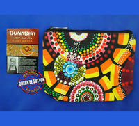 Rankuraan 1-Zip Aboriginal Art Cosmetic Bag