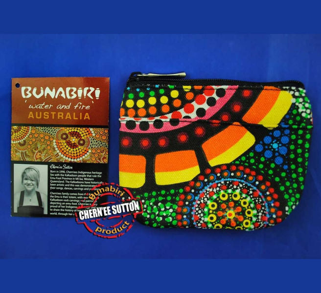Rankuraan Aboriginal Art Coin Purse (Rectangular)