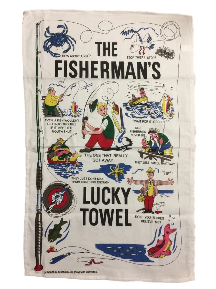 Fisherman's Lucky Tea Towel