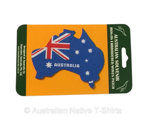 Australian Flag Map Iron-on Patch