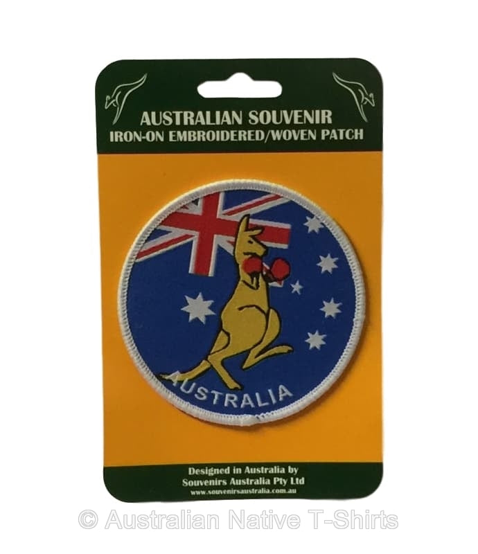 Boxing Roo Round Iron-on Patch