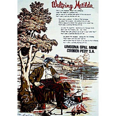Waltzing Matilda Souvenir Tea Towel