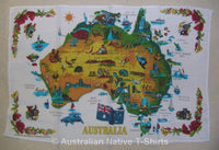 Map of Australia Souvenir Tea Towel