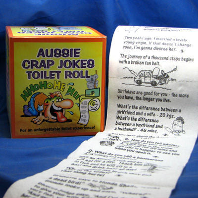 Aussie Crap Jokes Novelty Toilet Roll *May Be Offensive*