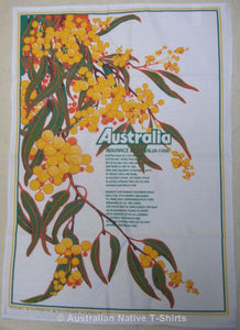 Advance Australia Fair Wattle Tea Towel