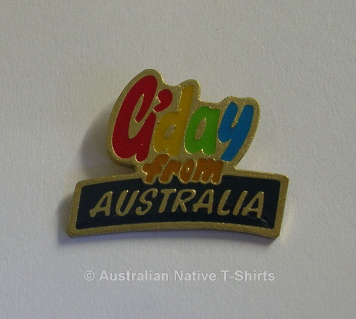 G'day From Australia Metal Badge
