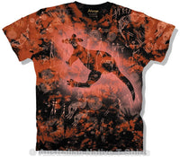 Rock Kangaroo Adults Aboriginal Art T-Shirt (Tie Dye)