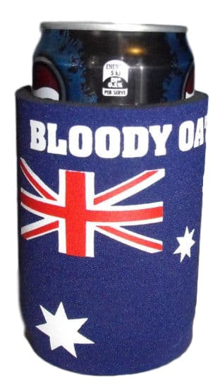 Bloody Oath! Australian Flag Stubby Holder