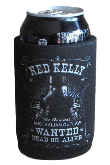 Wanted Dead or Alive Ned Kelly Stubby Holder