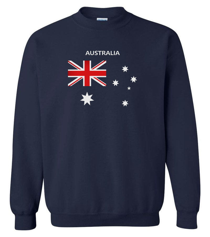 Australian Flag Crew Neck Sweatshirt (Navy)
