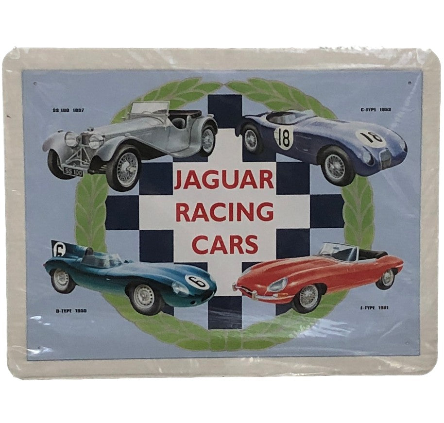 Jaguar Racing Cars Tin Sign (31.7cm x 40.5cm)