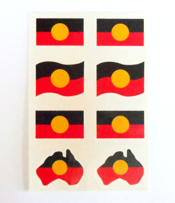 Aboriginal Flag Temporary Tattoo (Pack of 8)