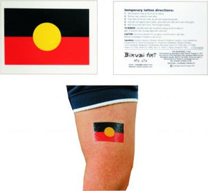 Aboriginal Flag Temporary Tattoo (Single)