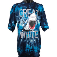 Great White Shark Tie Dye Adults T-Shirt