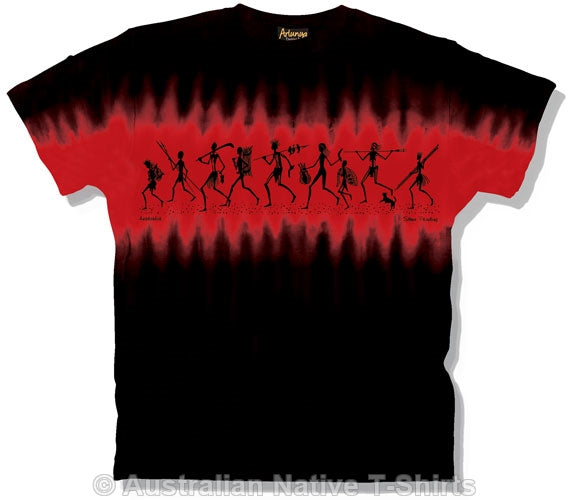 Black & Red Stone Painting T-Shirt (Tie Dye)