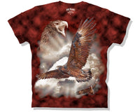 Wedge Tailed Eagle Tie Dye Adults T-Shirt