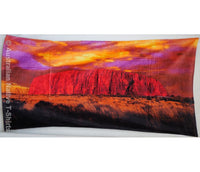 Uluru Photo Souvenir Beach Towel