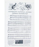 Australian National Anthem Tea Towel