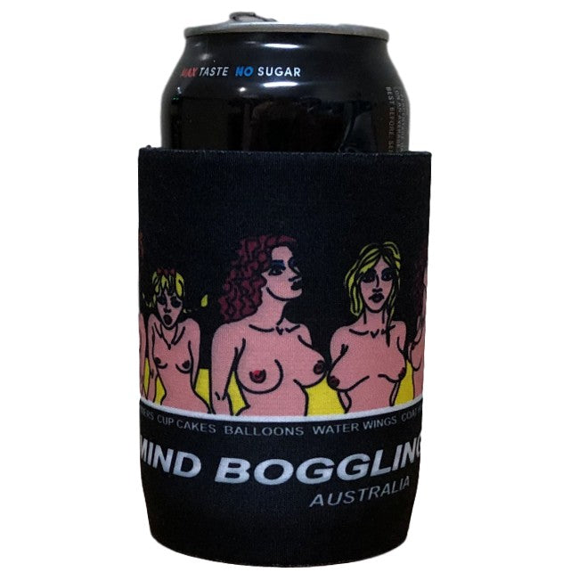 Mind Boggling Boobs Beer Can Holder (Black)