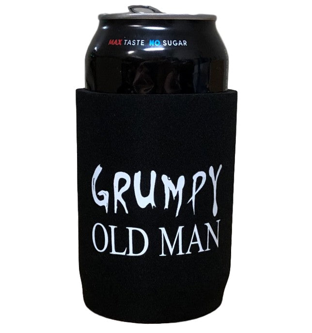 Grumpy Old Man Beer Can Holder (Smaller Print)