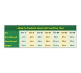 Ladies Tracksuit Jacket Size Chart