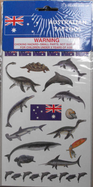 Australian Temporary Tattoos - Sea Creatures