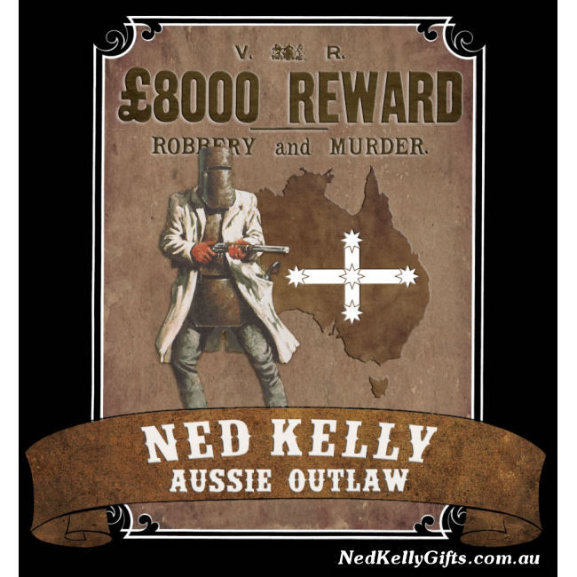 Ned Kelly Aussie Outlaw Wanted Poster Sticker
